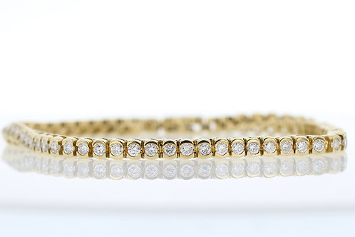 3 Carat Half Bezel Set Diamond Tennis Bracelet
