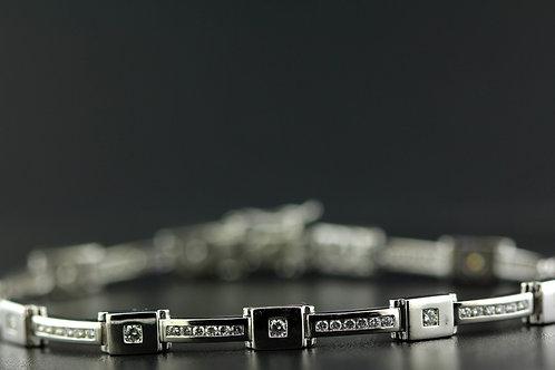 1 Carat Square & Bar Diamond Tennis Bracelet