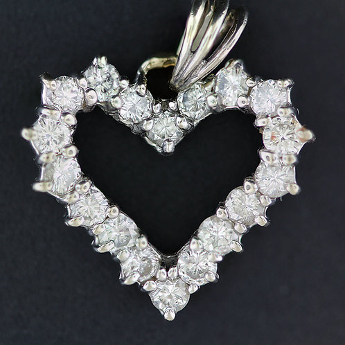 1 Carat Heart Shaped Diamond Pendant