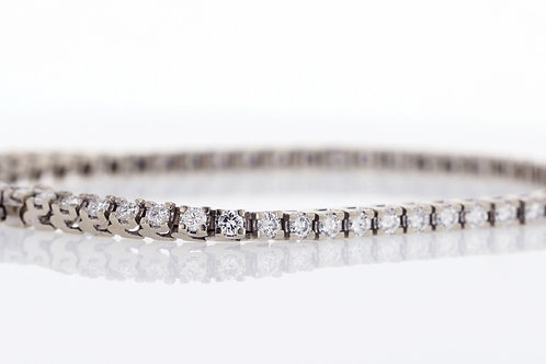 3 Carat Square Prong Diamond Tennis Bracelet