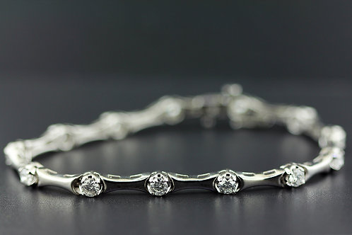 1 Carat Shared Bar Set Diamond Tennis Bracelet