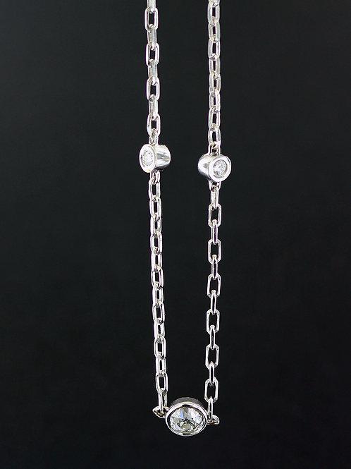 0.90 Carat Deep Bezel Set Diamond Chain