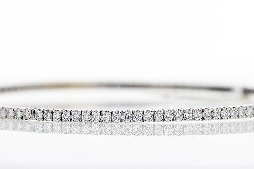 2 Carat Round Cut Shared Prong Diamond Bangle