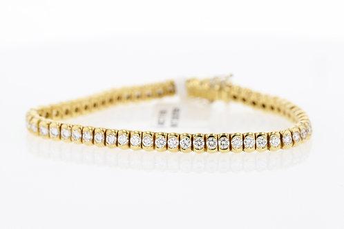3 Carat Long Half Bezel Diamond Tennis Bracelet
