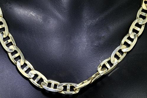 14k Yellow Gold Flat Mariner Chain
