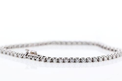 3 Carat Square Prong Diamond Tennis Bracelet