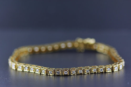 2 Carat Bright Cut Set Diamond Tennis Bracelet