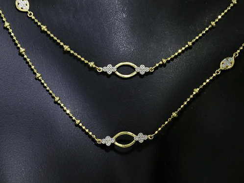 0.12 Carat Diamond Accented Oval Link Chain