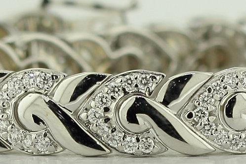 4 Carat Diamond Wing Braid Tennis Bracelet
