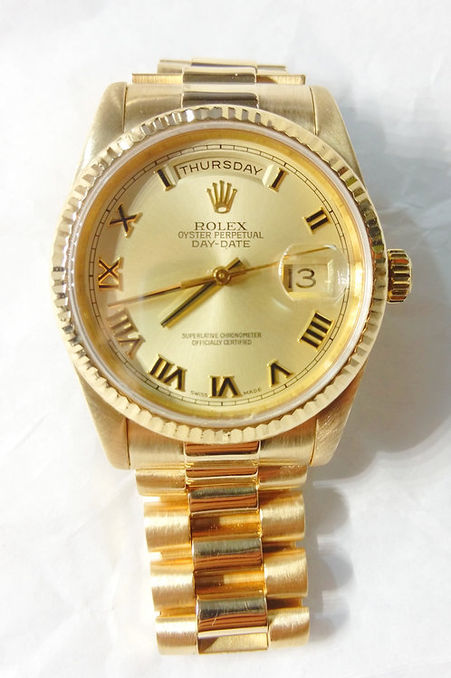 2003 Yellow Gold Day Date Rolex