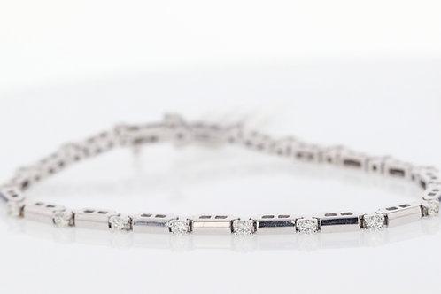 1 Carat Bar Link Diamond Tennis Bracelet