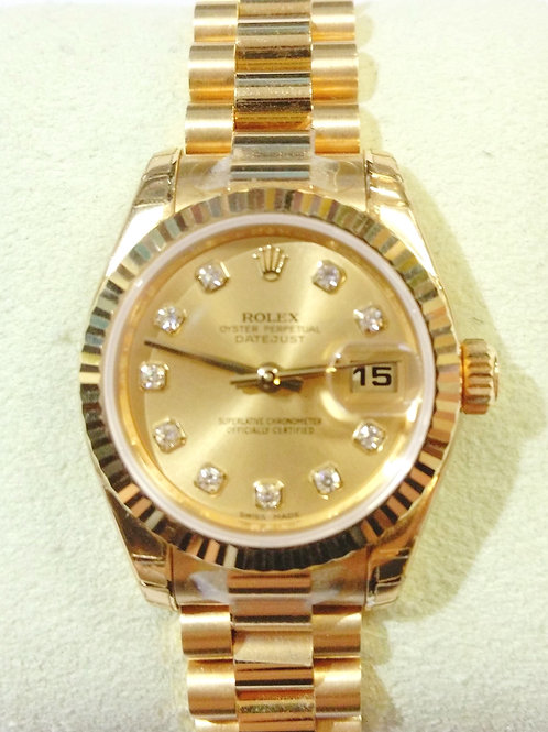 2007 Women's Yellow Gold Datejust Rolex