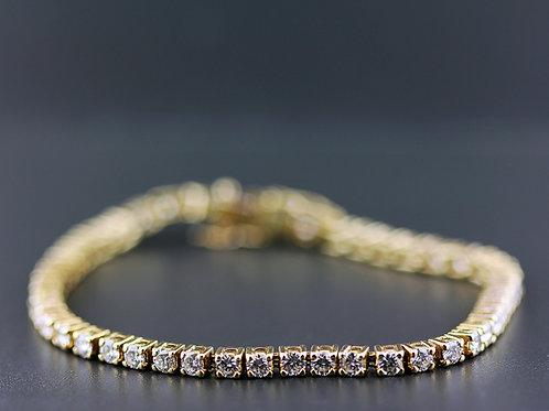 3 Carat Round Prong Set Diamond Tennis Bracelet