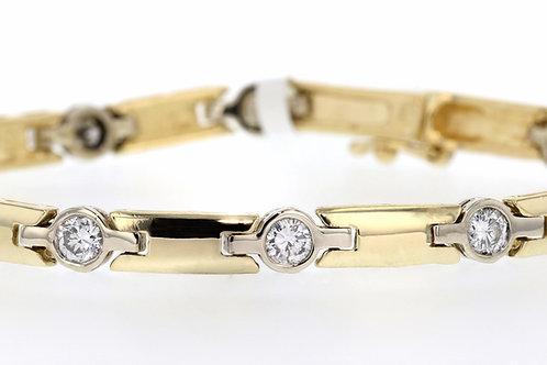 2 Carat Bezel Set Diamond Link Bracelet
