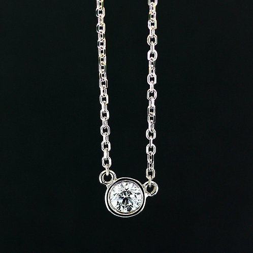 0.5 Carat Bezel Set Round Diamond Pendant