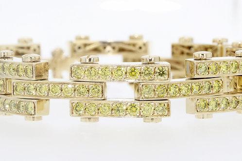 16 Carat Bicycle Chain Yellow Diamond Bracelet