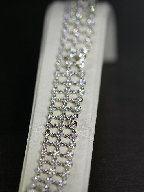 2 Carat Bezel Set Round Cut Diamond Bracelet
