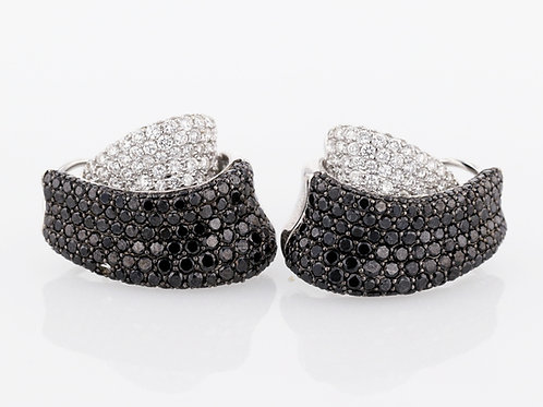 5 Carat Black & White Diamond Huggies