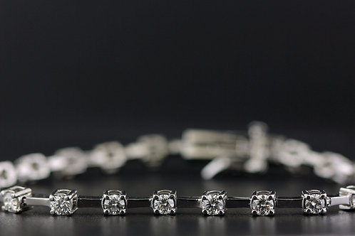 2 Carat Shared Bar Diamond Tennis Bracelet