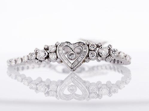 4 Carat Peekaboo Heart Diamond Bracelet
