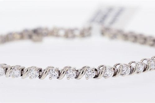 2 Carat S Wave Diamond Tennis Bracelet
