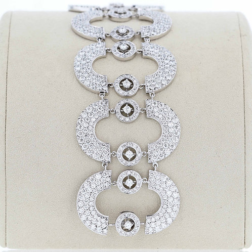 24 Carat Crescent & Circle Diamond Bracelet
