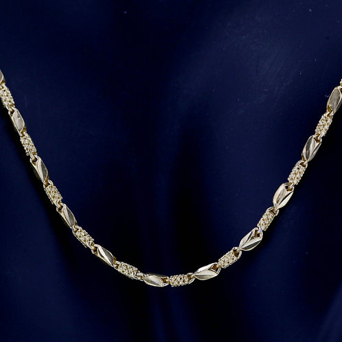 22k Yellow Gold Two Pattern Chain