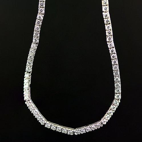 3 Carat Five Stone Diamond Necklace