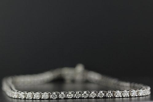 4 Carat Square Prong Diamond Tennis Bracelet