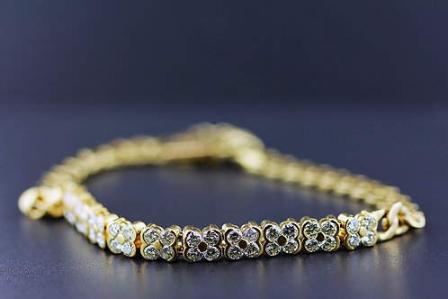 2 Carat X Shape Cluster Diamond Tennis Bracelet
