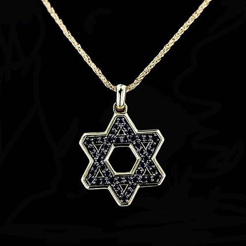 3 Carat Black Diamond Star of David Pendant