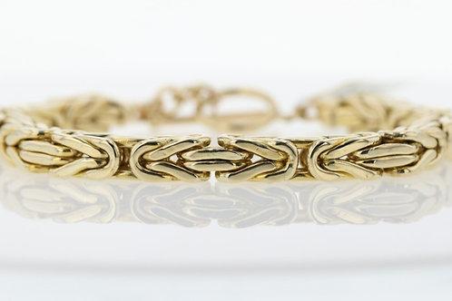 14k Yellow Gold Square Knot Bracelet
