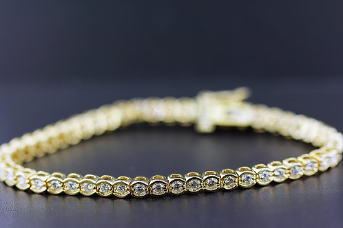 3 Carat Shared Bezel Set Diamond Tennis Bracelet