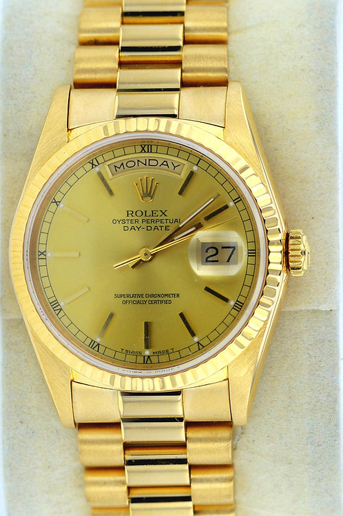 1990 Yellow Gold Day Date Rolex