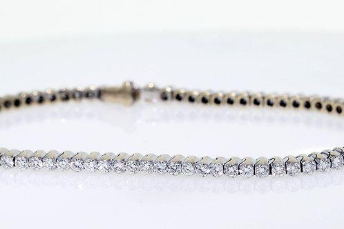 3 Carat Rimless Bezel Set Diamond Tennis Bracelet