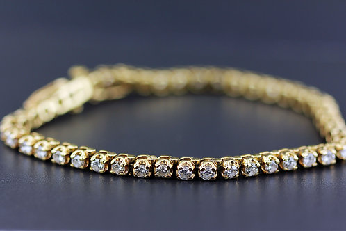 3 Carat Wide Prong Set Diamond Tennis Bracelet