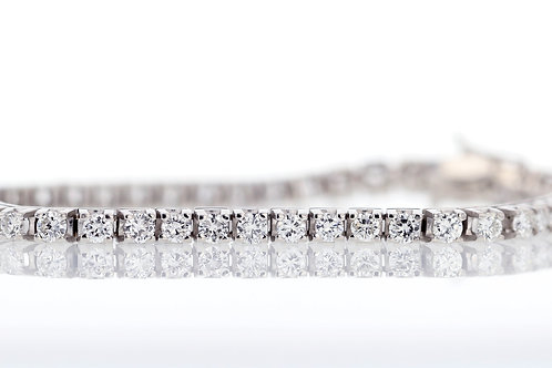 4 Carat Four Prong Diamond Tennis Bracelet