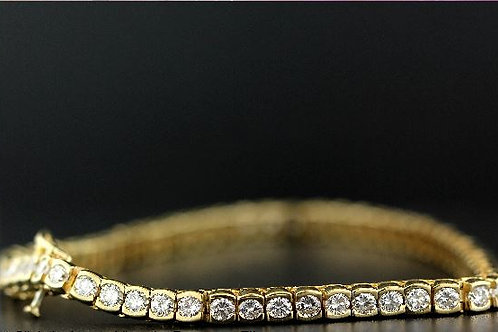 5 Carat Half Bezel Set Diamond Tennis Bracelet