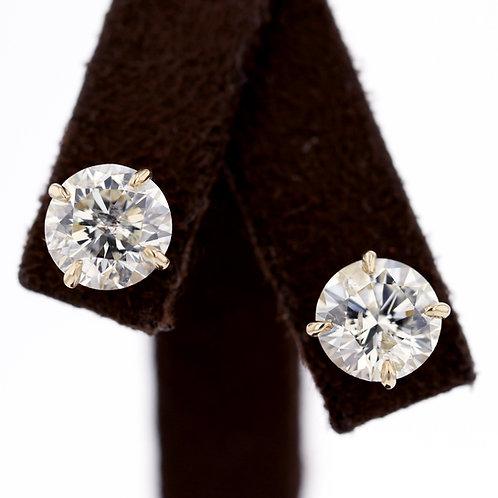 5 Carat Round Diamond Studs