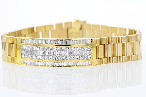 8 Carat Five Row Diamond Watch Band Bracelet