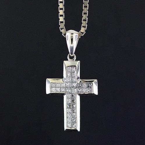 1 Carat Cross Diamond Pendant