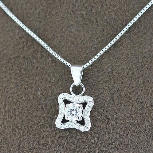 0.20 Carat Four Point Star Diamond Pendant