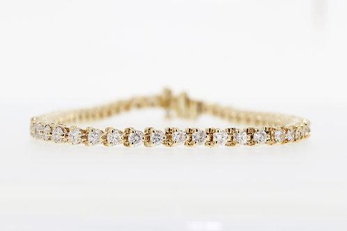 3 Carat Shared Three Prong Diamond Tennis Bracelet