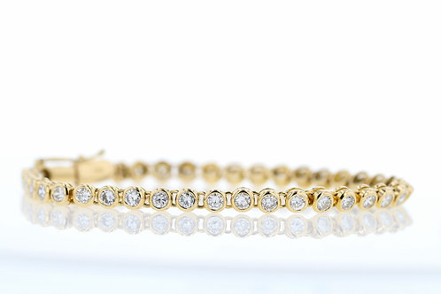 4 Carat Bezel Set Diamond Tennis Bracelet