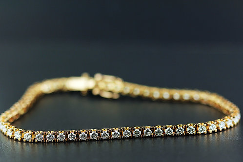2 Carat Square Prong Diamond Tennis Bracelet