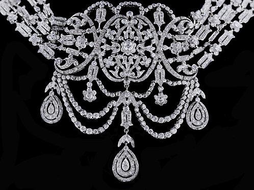 8 Carat Fancy Dangle Collar Diamond Necklace