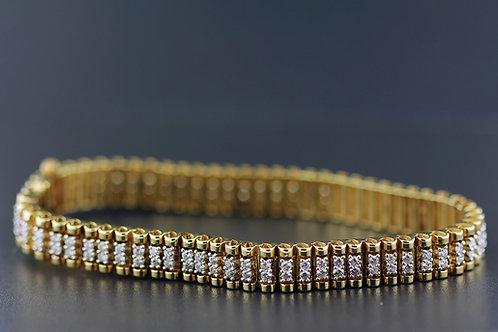 2 Carat Bar Link Paired Diamond Bracelet