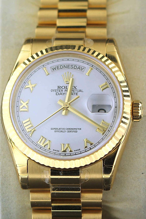 2014 Yellow Gold Day Date Rolex