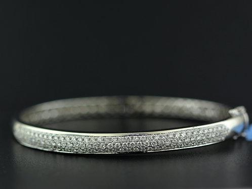 1 Carat Three Row Offset Diamond Bangle