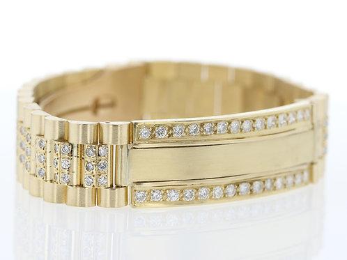 4 Carat Rolex Style Diamond Bracelet